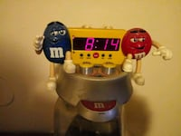 Yes I have a M&M clock with a radio and a alarm