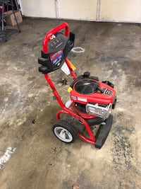 Red and black pressure washer