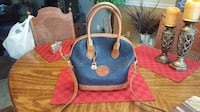 Authentic Dooney & Bourke All Weather Leather Large Norfolk ALEXANDRIA