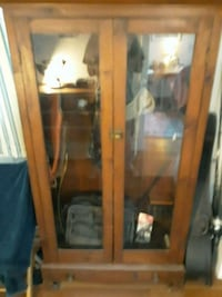 Antique gun cabinet, pine with lower drawer,will h Brunswick, 04011