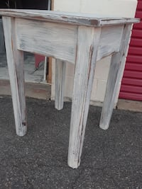 square white wooden side table
