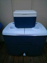 white and blue cooler box Kingsport, 37664