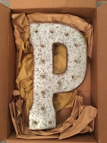 "Rustic Metal Vintage Letter Signs, 21"", S, P, A, S, O Available"