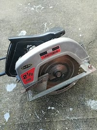silver and black Craftsman circular saw
