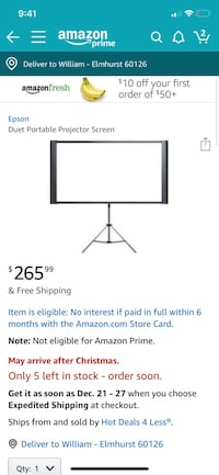 Epson Duet Portable Projection Screen  Elmhurst, 60126