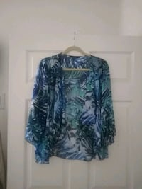 Worn once Small Tiana B New York sheer bathing suit shirt/cover