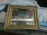 3D last supper picture with light in frame Fort Wayne