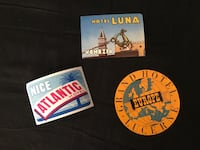 Lot of 3 Vintage Luggage Travel Stickers / Hotel Tags Kansas City, 64152