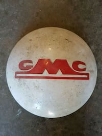 Antique metal car hubcap GMC Edmonton, T5T 6E2