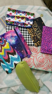 10 ASSORTED MAKE UP POUCHES