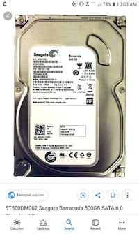 Seagate 500gb Barracuda 3.5in 20$ Hagerstown, 21740