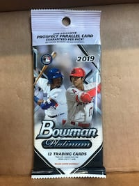 Unopened baseball cards. Multiple packs available.