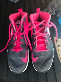 Pair of gray-and-pink nike shoes  Happy Valley, 97086