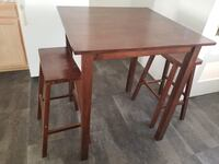 Cafe/ pub table and two stools REDLANDS