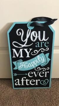 Hanging Sign Turquoise & Black $20 OBO Provo, 84606