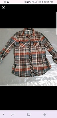 black, white, and red plaid dress shirt Conway, 29526