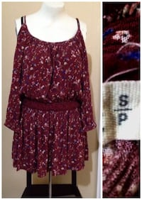 women's red and white floral dress Winnipeg, R2L 1H4