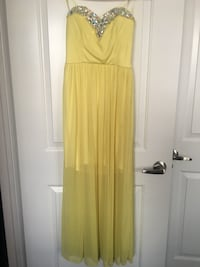 Strapless yellow dress - great for parties, prom or graduation Pickering, L1V 6Z7