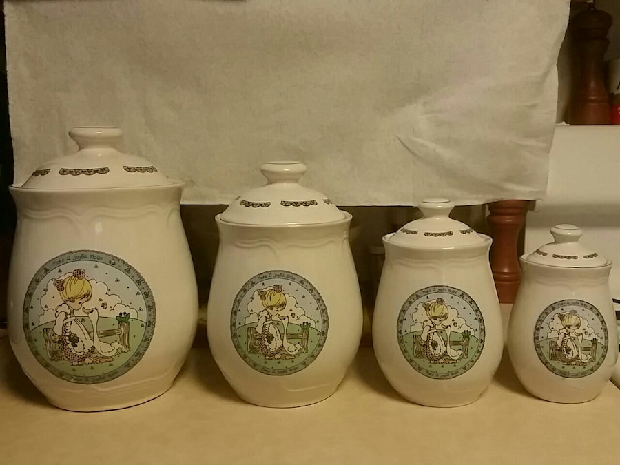 Precious Moments 4 Piece Kitchen Canister Set