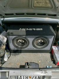 black and gray Memphis subwoofer speaker Germantown, 20876