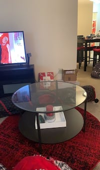 Dark Brown Glass Coffee Table College Park, 20740