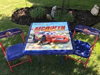Kids outdoor lightning McQueen table and chairs Calgary, T2Y 3C2