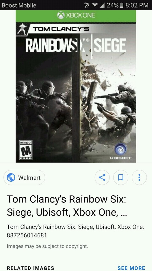 Xbox One Tom Clancy's Rainbows X Siege case screenshot
