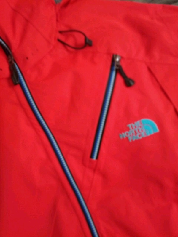 New Large North Face Maching Fiery Red jacket all
