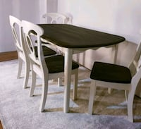 rectangular brown wooden table with four chairs dining set Mississauga, L5N 4T3