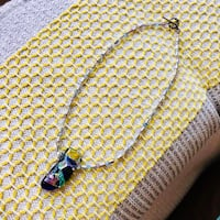 Dichroic glass one of a kind necklace New York, 11360