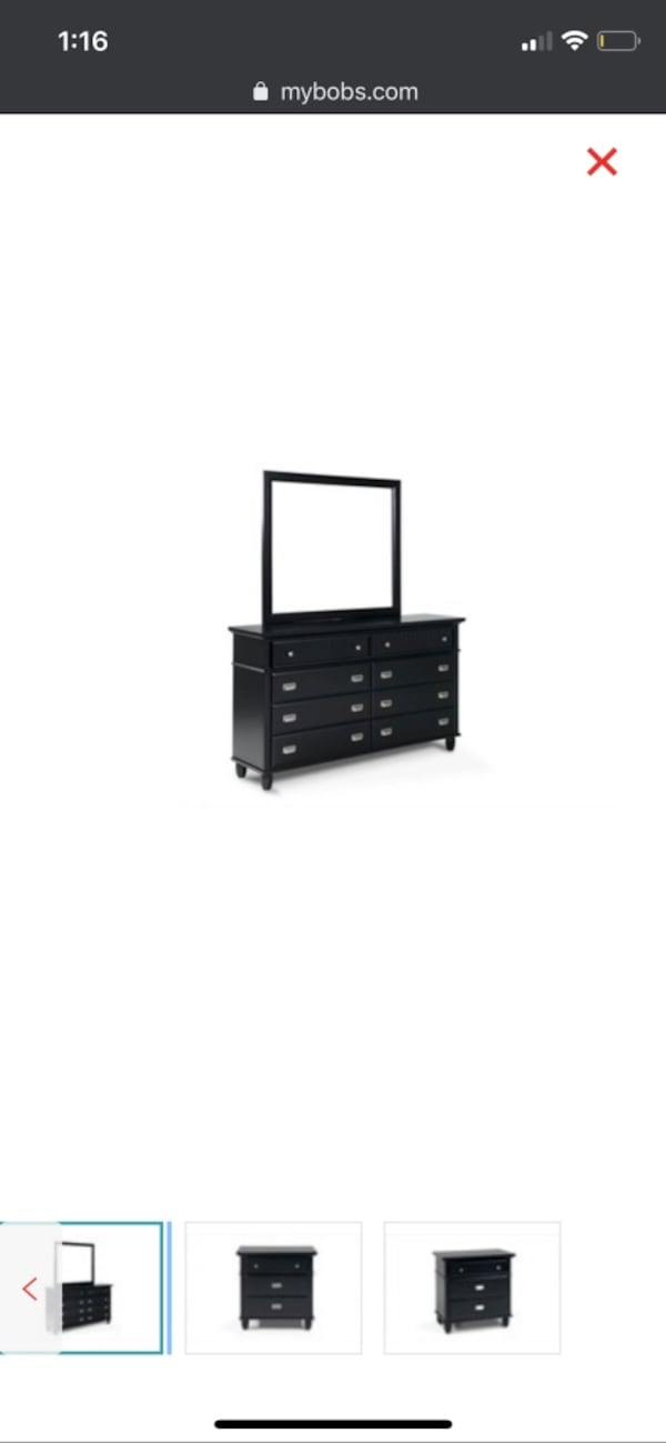Furniture Spencer Black Double Dresser