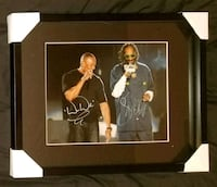Dr.Dre & Snoop Dogg Signed Photo Framed w/COA Brampton, L6T 5G5