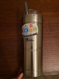 Bubba thermal cup w/straw