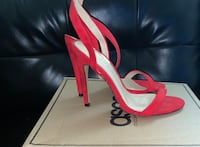 Red heeled sandals District Heights, 20747