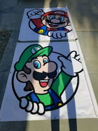 Mario and Luigi canvas poster  East Los Angeles, 90022