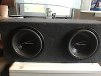 black and gray subwoofer speaker Costa Mesa, 92627