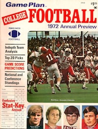 Vintage College Football Preview 1972 278 mi