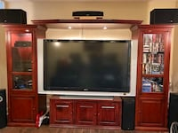 """Cherry Wood Entertainment Center with 70"""" Sony XBR TV Leesburg, 20176"""