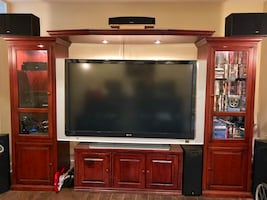 "Cherry Wood Entertainment Center with 70"" Sony XBR TV"
