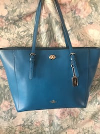 blue Michael Kors leather tote bag 130 mi