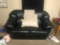 black leather sofa chair with ottoman Miamisburg, 45342