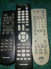 Jvc TV remote and 2 Mitsubishi remotes Jacksonville