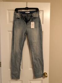 black denim straight-cut jeans Huntsville, 35758