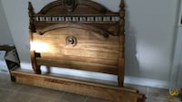 brown wooden headboard and footboard Milton, L9T 1V1