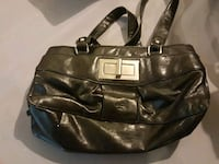 women's black leather shoulder bag Burlington, L7R 2J9