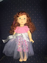Doll in pink and white dress Jessup, 20794