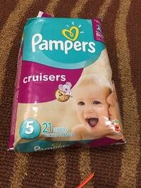 Pampers diapers 5 number.