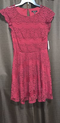 women's red floral sleeveless dress Coal City