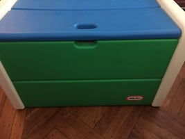 Little Tykes plastic toy chest - easy to clean.