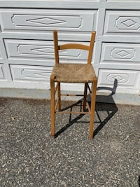 Barstool high chair wicker seat-